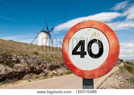 Speed Limit at the windmills of Don Quixote