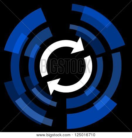 reload black background simple web icon