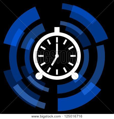 alarm black background simple web icon