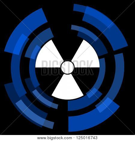 radiation black background simple web icon