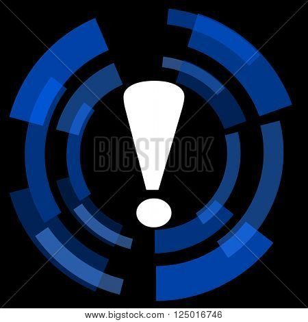 exclamation sign black background simple web icon