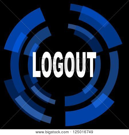 logout black background simple web icon