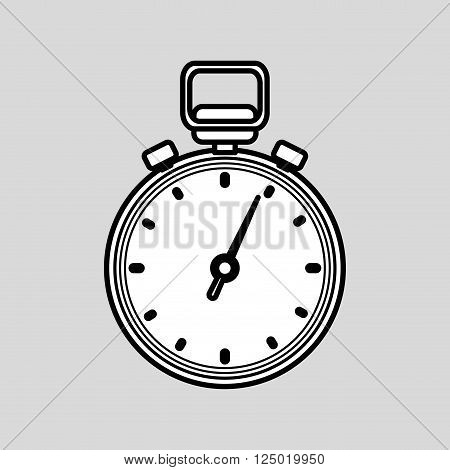 chronometer concept with icon design, vector illustration 10 eps graphic.