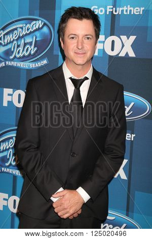 LOS ANGELES - APR 7:  Brian Dunkleman at the American Idol Finale Press Room at the Dolby Theater on April 7, 2016 in Los Angeles, CA