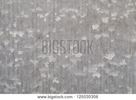 Zinc galvanized grunge metal surface texture background