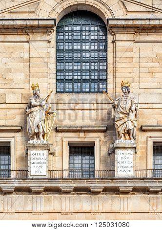 Detail Of Royal Palace Escorial Near Madrid, Spain.