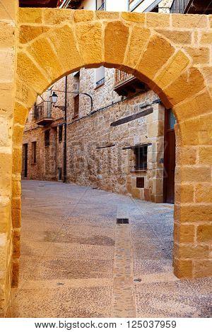 Beceite village arches in Teruel Spain in Matarrana area