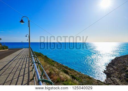 Cullera Mediterranean sea in Valencia of Spain