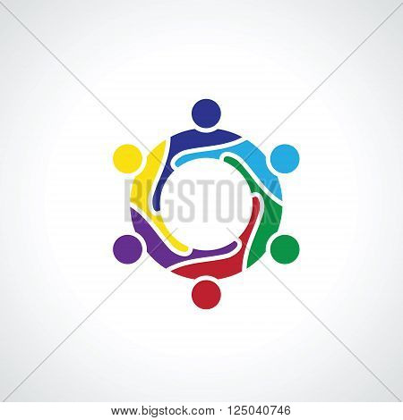 six people icon. people friends logo concept vector icon. this icon also represents friendship partnership cooperation unity