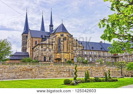 Church of Saint Michael in Bamberg in Germany. It is also called Michaelskirche. It is placed on the top of the hill