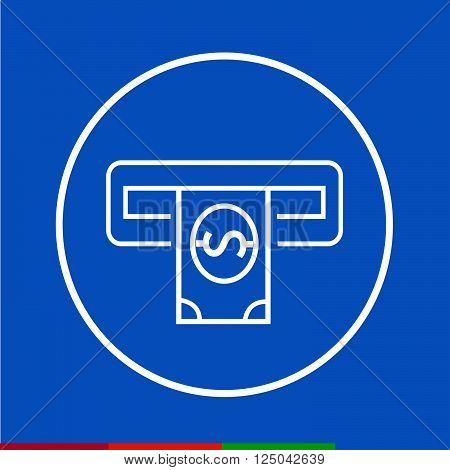 an images of Thin Line Atm Icon Illustration design