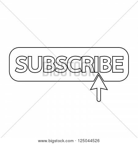 an images of Subscribe icon symbol Illustration design