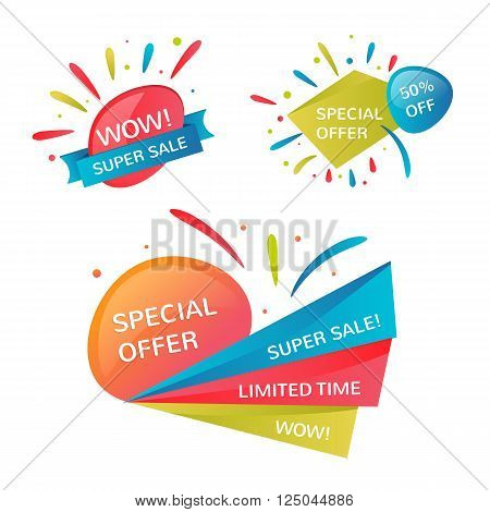 Super Sale banner. Discount vector concept. Text coupon. Modern sale background
