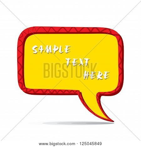 abstract message bubble design, write your sample text  vector