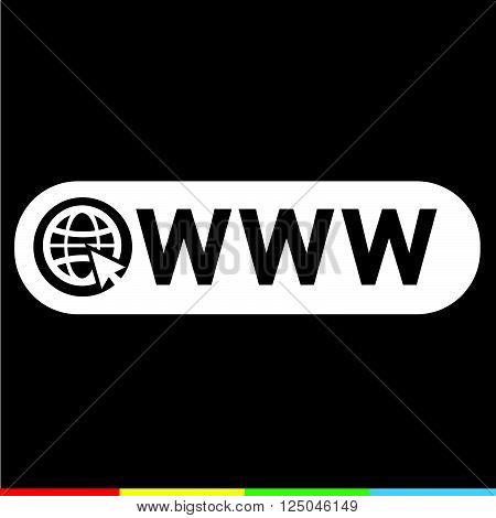 an images of www web icon Illustration design