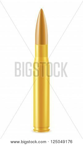 ball cartridge with a bullet vector illustration isolated on white background