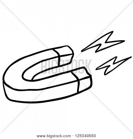 black and white magnet cartoon