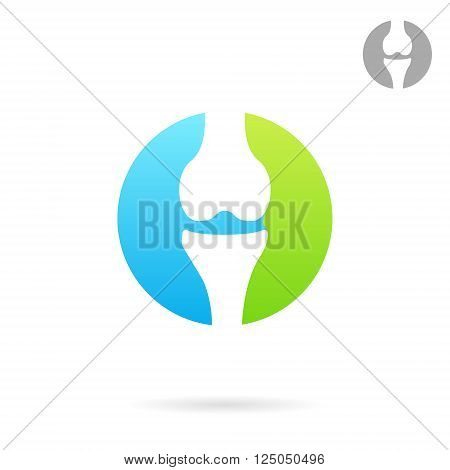 Joint treating clinic logo concept 2d vector illustration eps 8