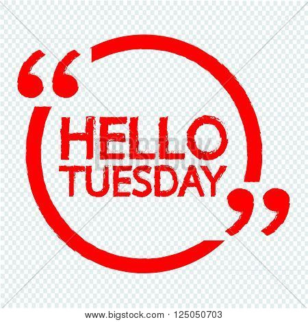 an images of HELLO TUESDAY Illustration Design