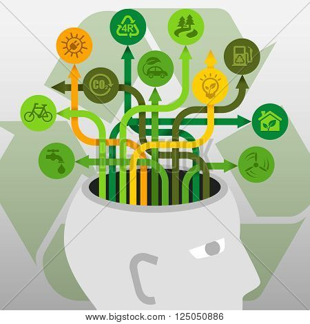 Brainstorm Ecology Environment Protection Recycle Ideas Concept