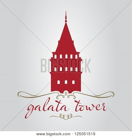 traditional istanbul galata tower silhouette for tourism