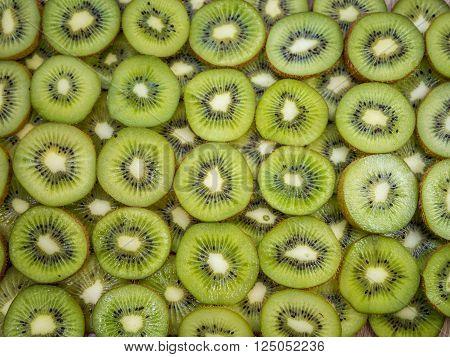 Close Up Shot Of Kiwi Slices
