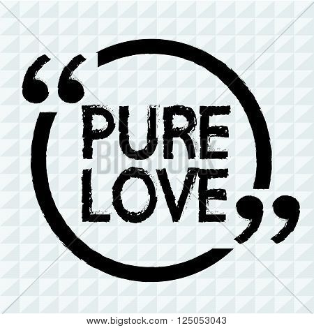 an images of PURE LOVE Illustration design