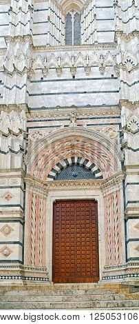 Wonderful Doorway of  Siena Baptistery  - Tuscany, Italy