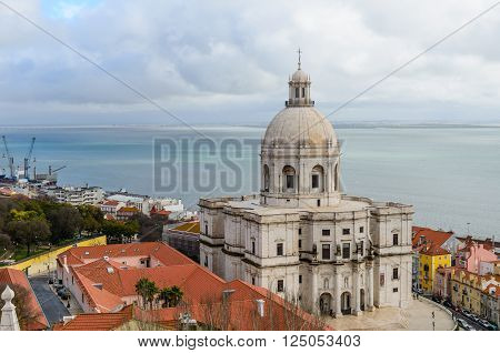 Lisbon, Portugal - January 7: The national Pantheon, Alfama district, in January 7, 2016 in Lisbon, Portugal.