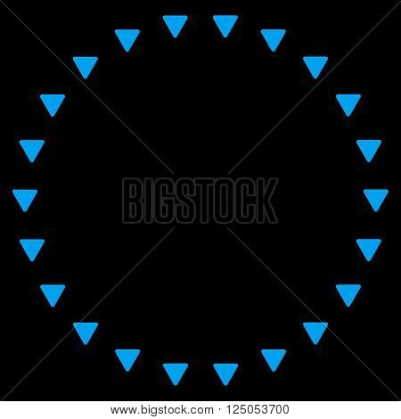 Dotted Circle vector icon. Dotted Circle icon symbol. Dotted Circle icon image. Dotted Circle icon picture. Dotted Circle pictogram. Flat blue dotted circle icon. Isolated dotted circle icon graphic.