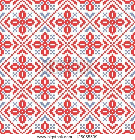 Traditional russian ornament seamless vector pattern. Ethnical background for decoration.