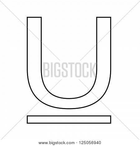 an image of Text Underline edit icon Illustration design