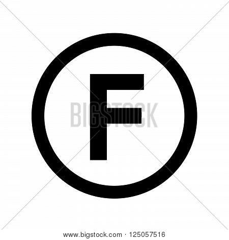 Basic font for letter F icon Illustration design