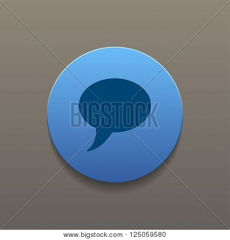 Chat Flat Icon. Flat design style eps 10