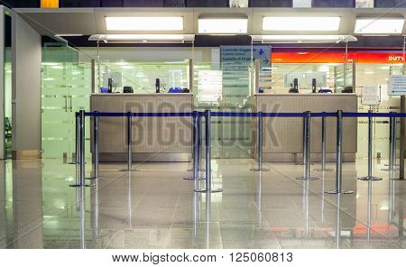 CATANIA AIRPORT, ITALY - DECEMBER, 29: View of Boarding Gate of Catania airport on December 29, 2015