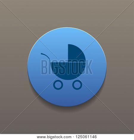 Pram icon. Flat design style eps 10