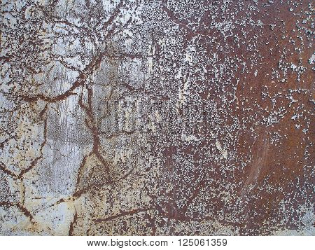 Rusty texture. Weathered metal abstract texture. Rusty iron surface. Grunge background. Old dirty rusty steel background.