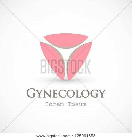 Logo gynecology template vector isolated on background