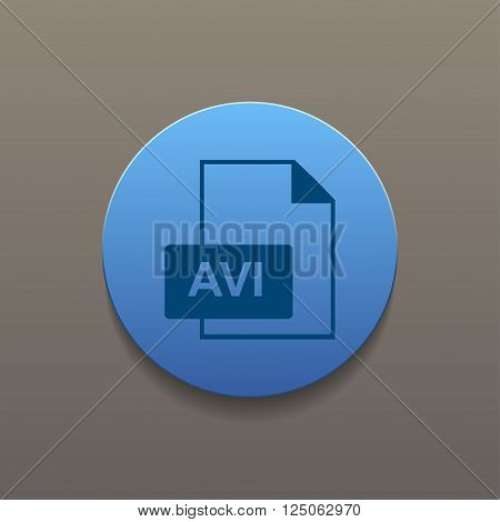 avi file icon. Flat design style eps 10