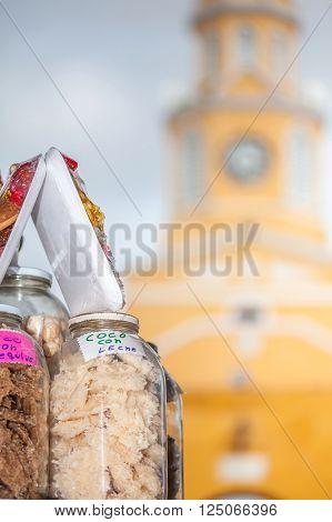 Candies Portal and Public Clock Tower in Cartagena de Indias