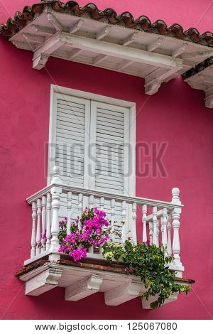Beautiful Balcony in Cartagena de Indias, Colombia