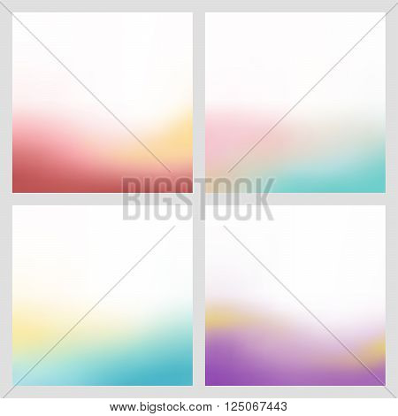 Abstract bottom color gradient blur background illustration vector