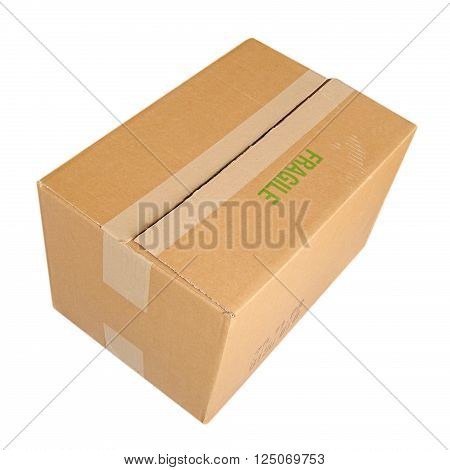 Parcel Isolated Over White