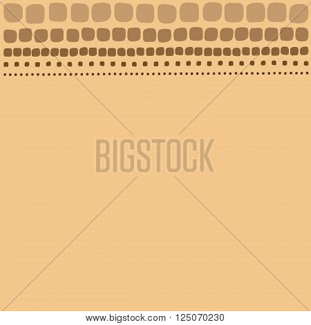 Frame drawings of rectangles on brown background