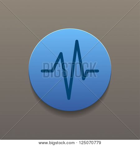 Heart beat Cardiogram Medical icon - Vector. Flat design style eps 10