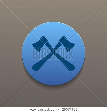 The ax icon. Axe symbol. Flat Vector illustration