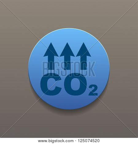 Chemistry sign. CO2 carbon dioxide icon. Flat