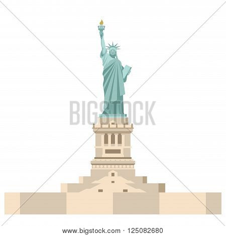 Statue Of Liberty In America. National Symbol Of Usa. State Attraction Of Country. Statue Of Liberty