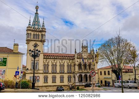 Sintra, Portugal - January 8: urban landscape - the old Portuguese architecture in the January 8, 2016, in Sintra Portugal.