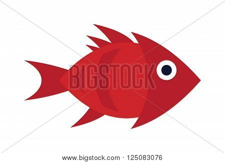 Aquarium underwater fish and marine aquarium blue fish. Wildlife tropical sea aquarium fish, colorful ocean aquarium blue exotic fish. Blue discus fish aquarium underwater nature animal vector.
